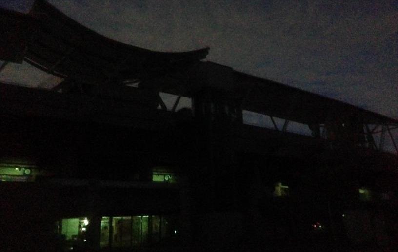 真っ暗なギオンスタジアム